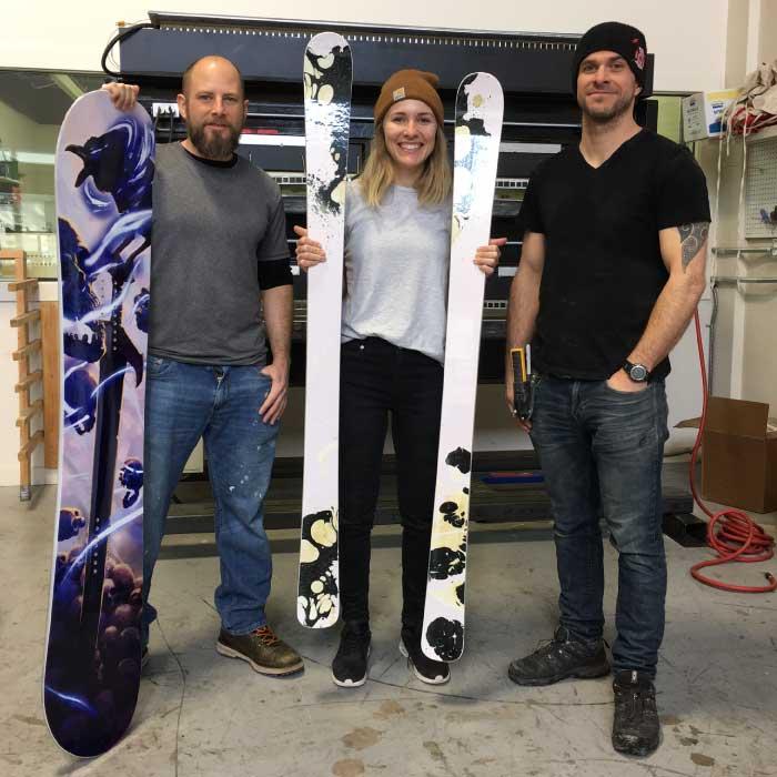 Gap Year Kanada in Whistler - Snowboard und Ski bauen