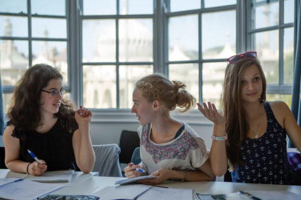 Kinder im Englisch Unterricht Familiensprachreise Brighton