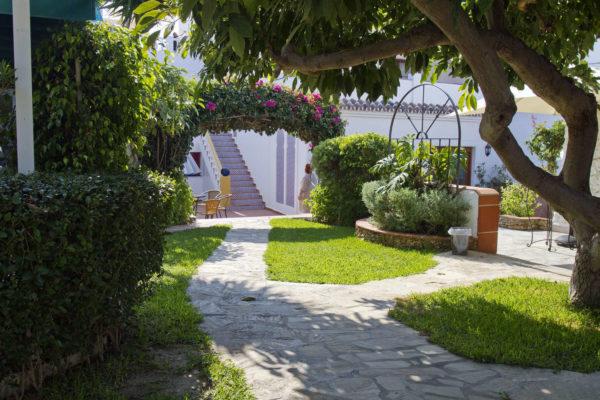 Wunderschöner Garten der Sprachschule in Nerja