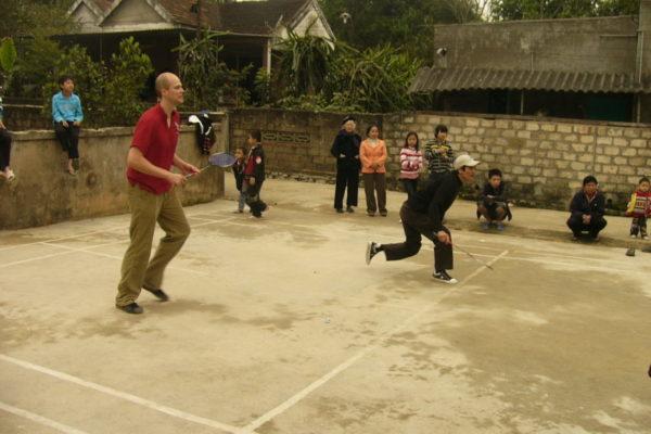 Federball spielen in Vietnam