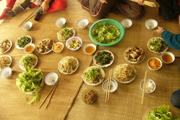 Essen in der Gastfamilie Hanoi