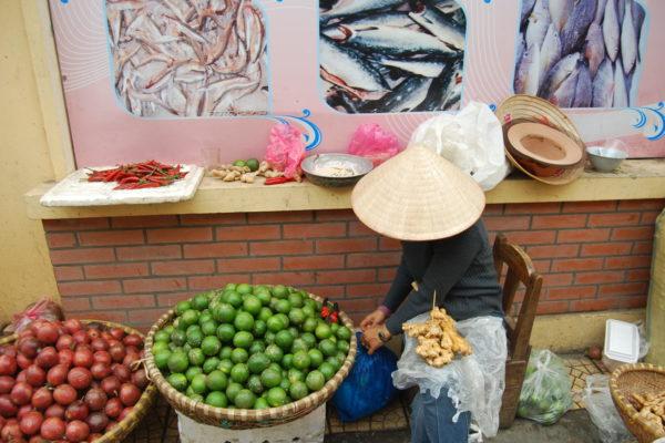 Markttag in Hanoi