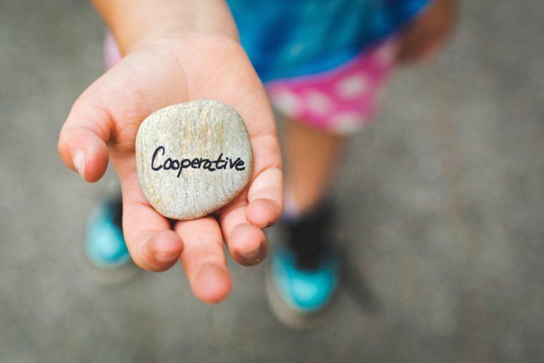 Kind mit Stein steht für Hilfsbereitschaft