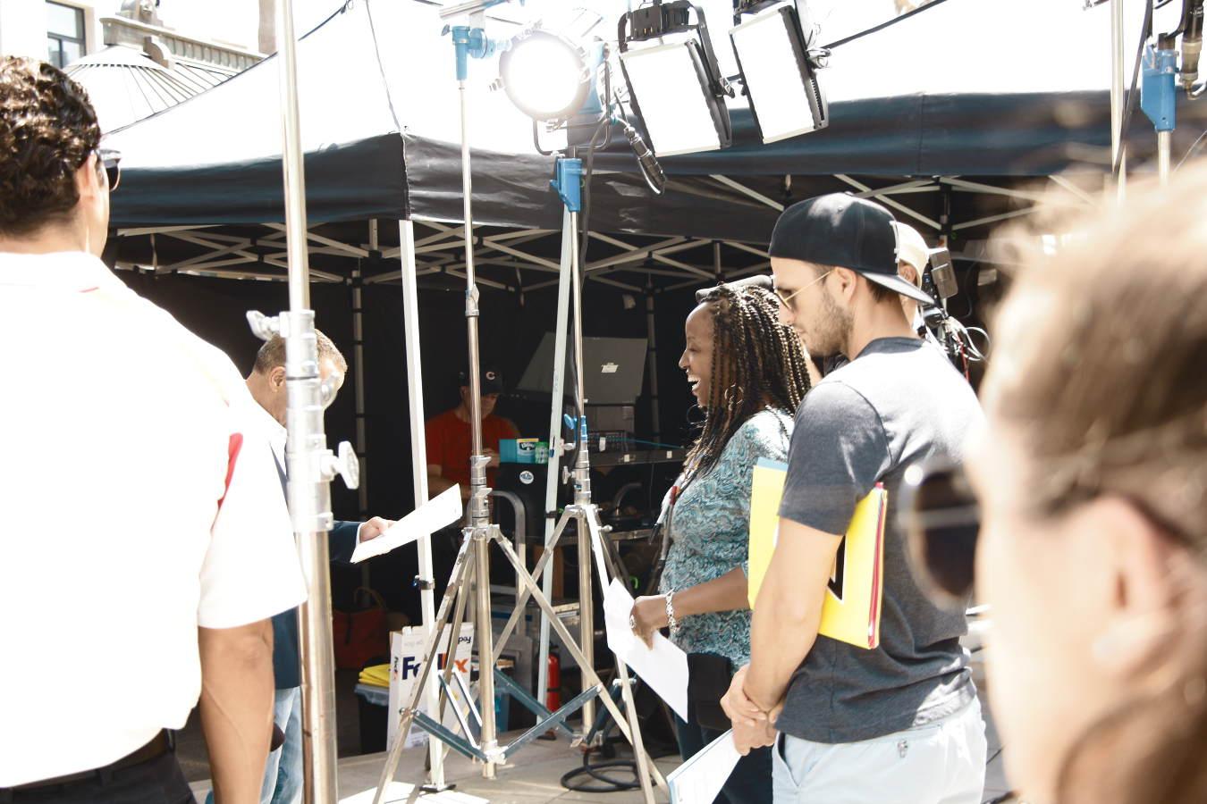 camera setup film crew