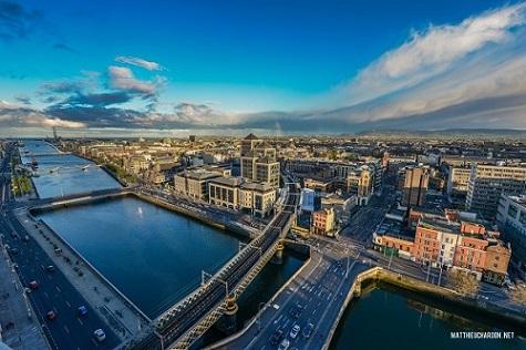 Englisch für Familien Dublin Vogelperspektive