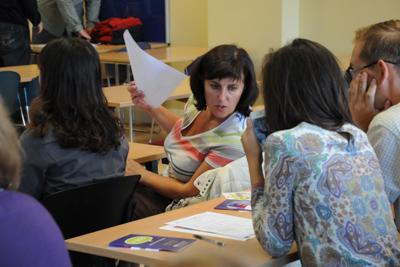 Im Unterricht 50 plus Sprachkurs Galway