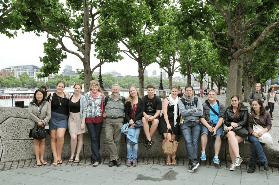 Klassenfahrt einer Schülergruppe nach London