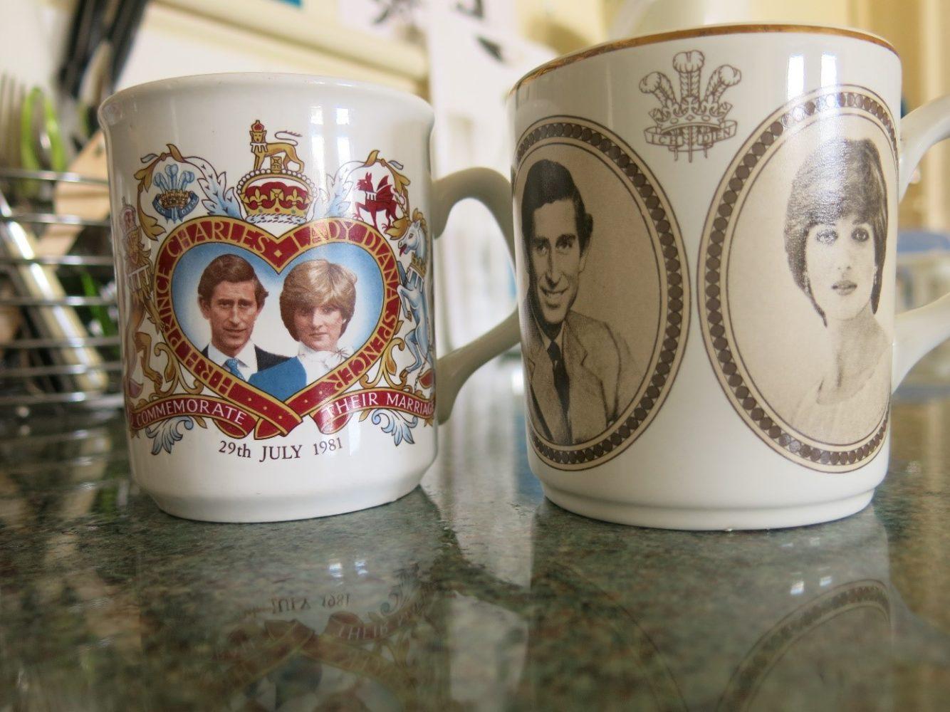 Lady Di prince Charles Tassen Sprachreise England