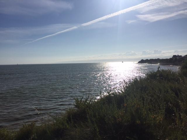 Küste mit Sonnenuntergang La Rochelle Frankreich