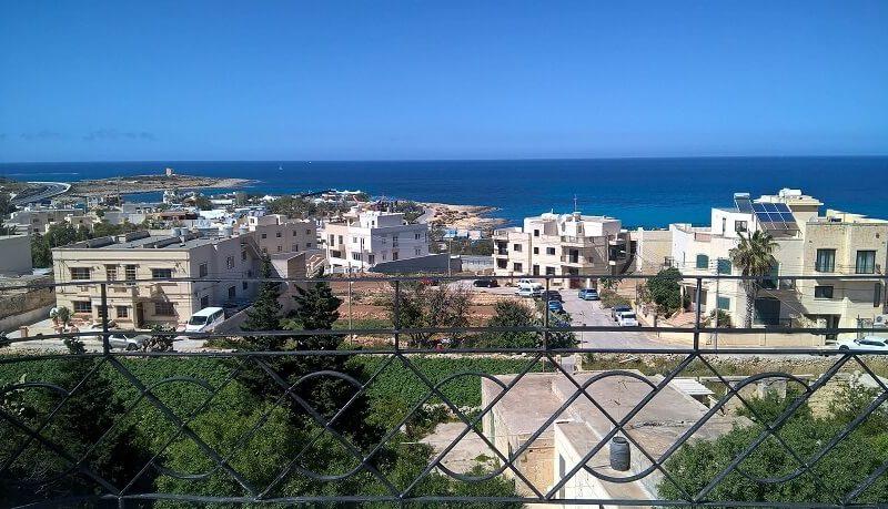 Wunderschöner Meerblick von Pension Sprachreise Malta 50 plus