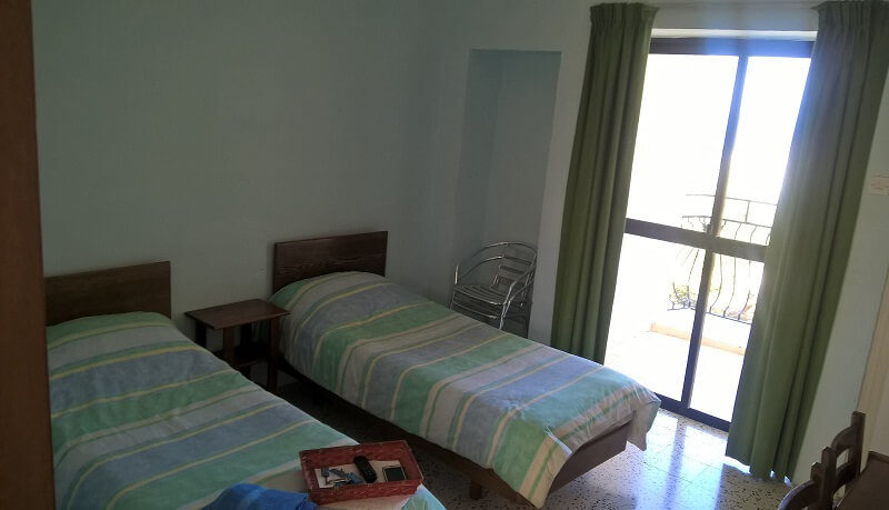 Doppelzimmer Pension Sprachreisen Malta 50 plus