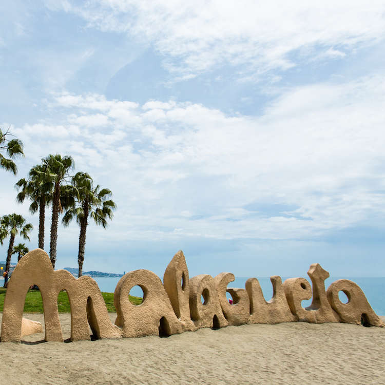 Strand von Malaga Spanisch Sprachreisen 50 plus