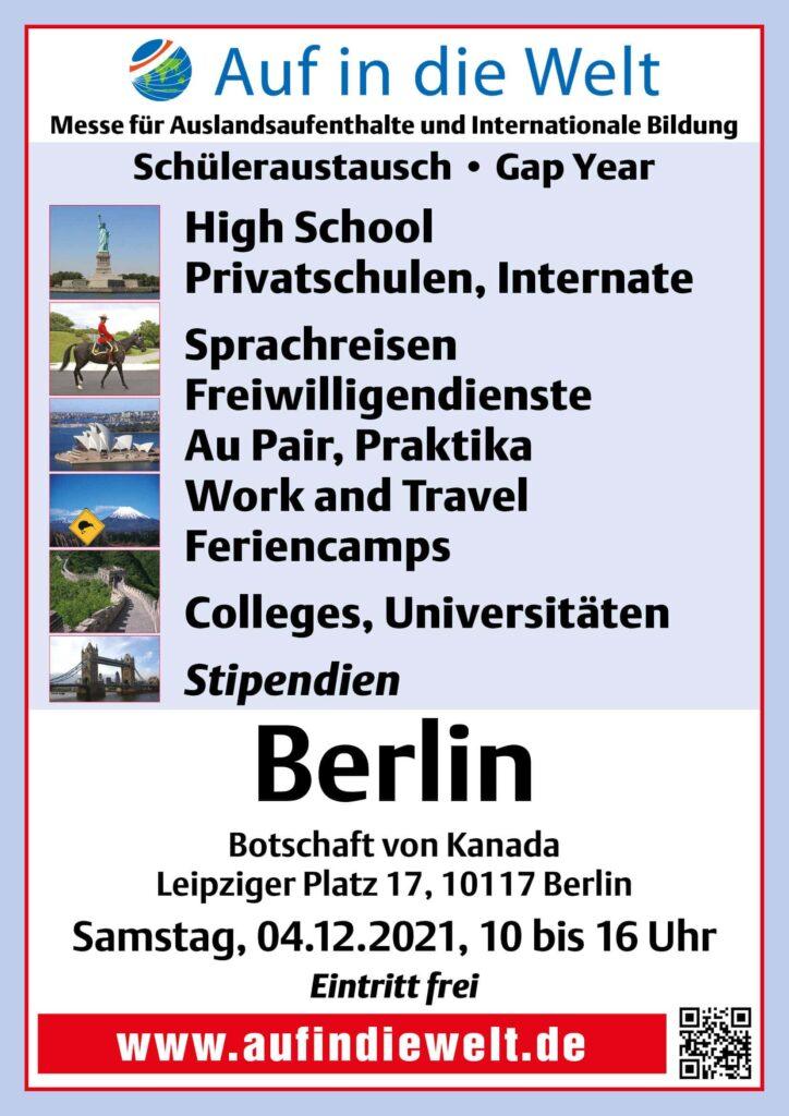 Gap Year Kanada Messe Berlin 2021 Übersicht